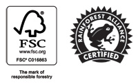 By purchasing products with the FSC label, you are supporting the growth of responsible forest management worldwide.