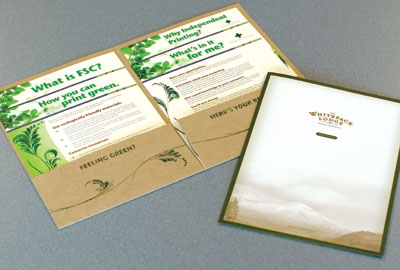 Envirofolders are a great way to promote an eco-friendly company image.